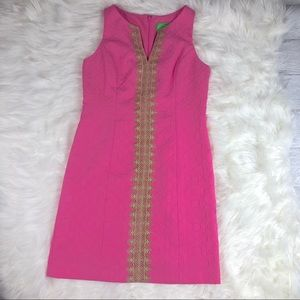Pappagallo Lace Trim Shift Dress Size 4
